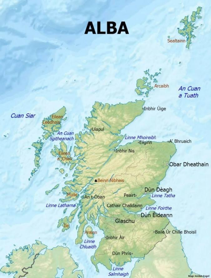 Alba (Scotland) in Gàidhlig (Scottish Gaelic) by Jordan Engel