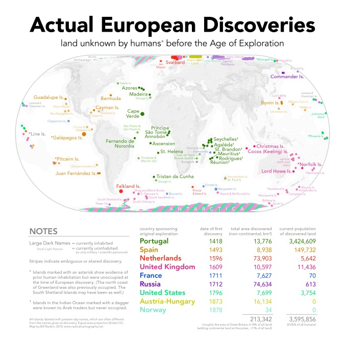 Actual European Discoveries by Bill Rankin