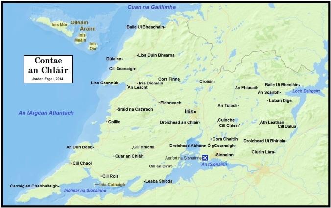 Contae an Chláir (County Clare, Ireland) in Gaeilge (Irish) by Jordan Engel
