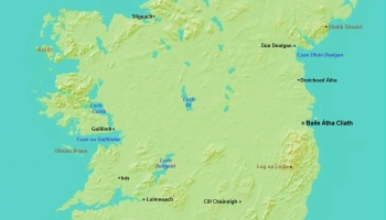 United Ireland In Irish The Decolonial Atlas - Irish language map