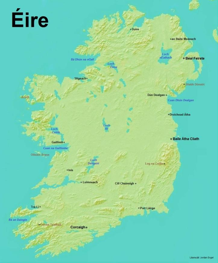 Éire (Ireland) in Gaeilge (Irish)