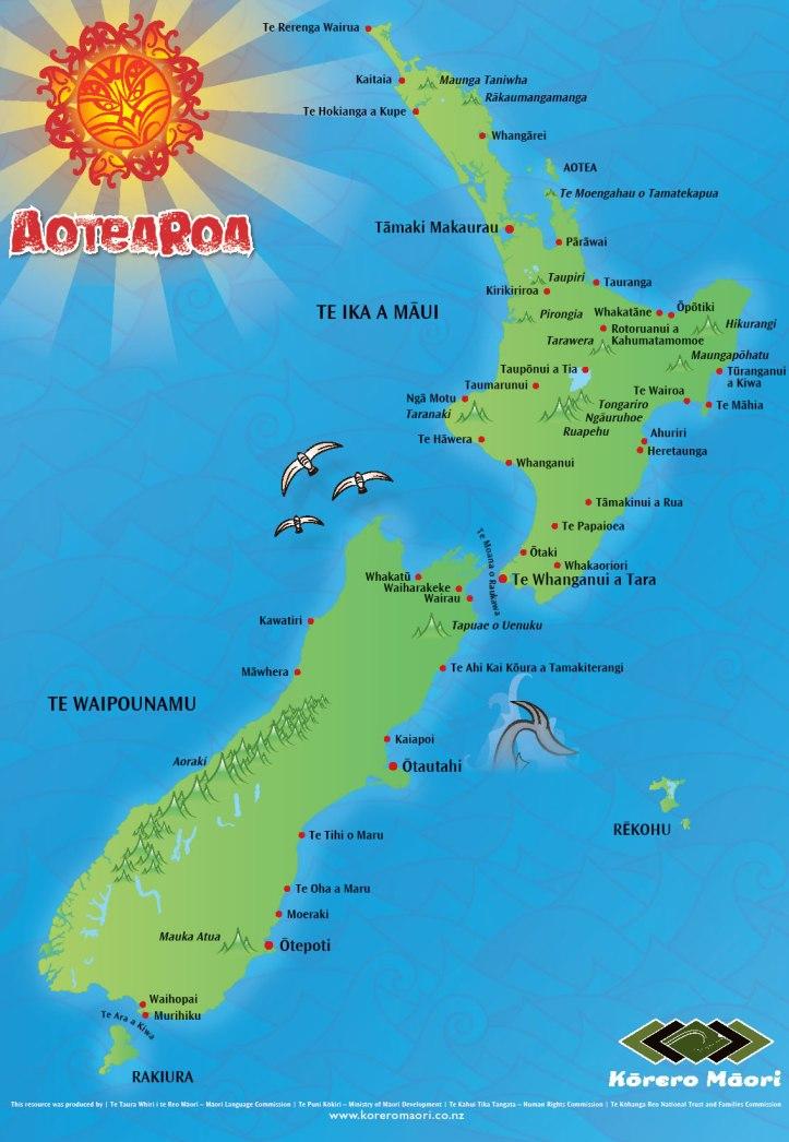 Aotearoa (New Zealand) in Māori