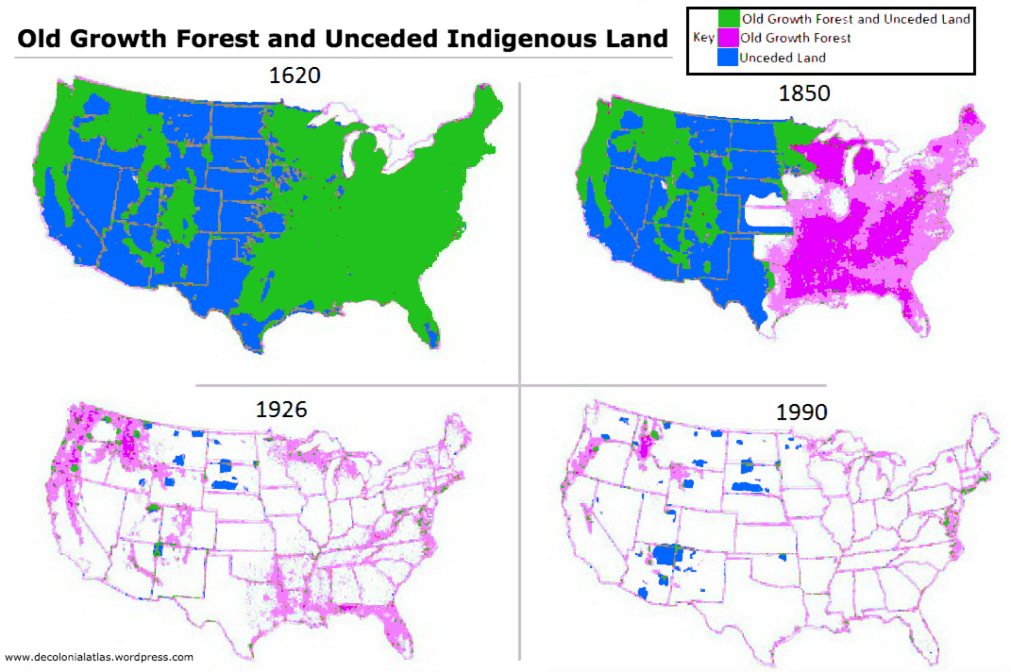 Native American Map Before Colonization.The Deforestation And Colonization Of The United States The