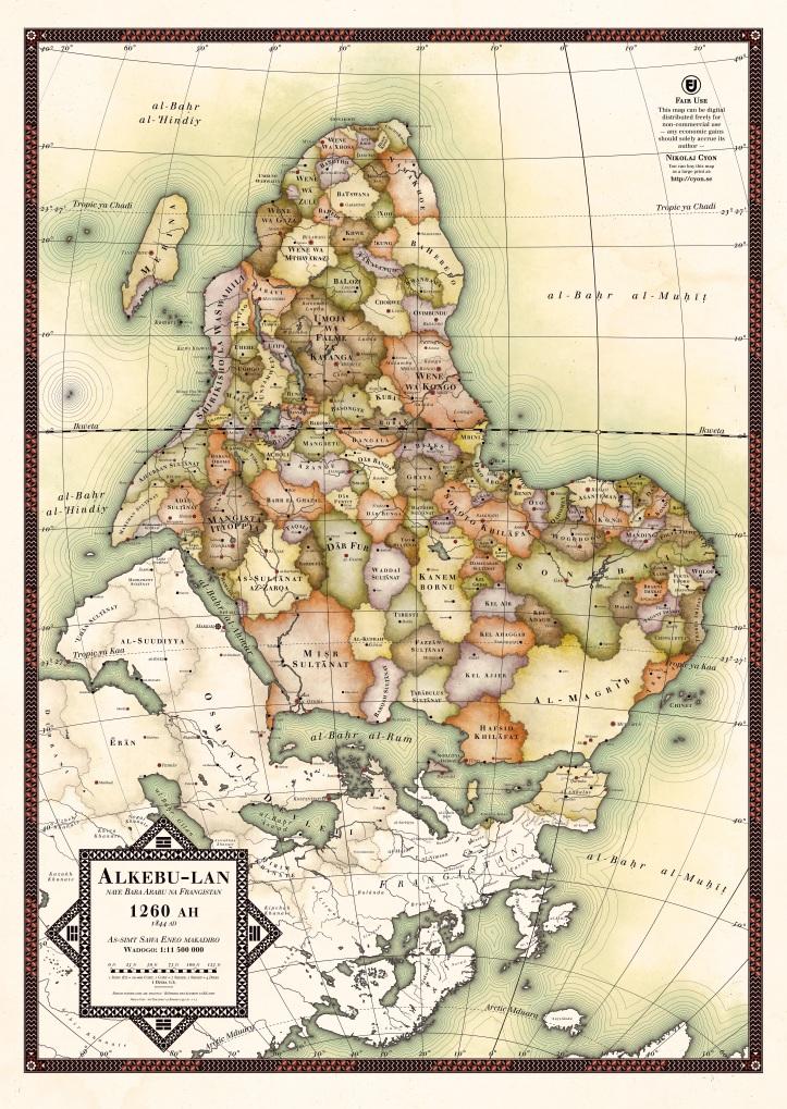 Alkebu-lan 1260 AH, by Nikolaj Cyon
