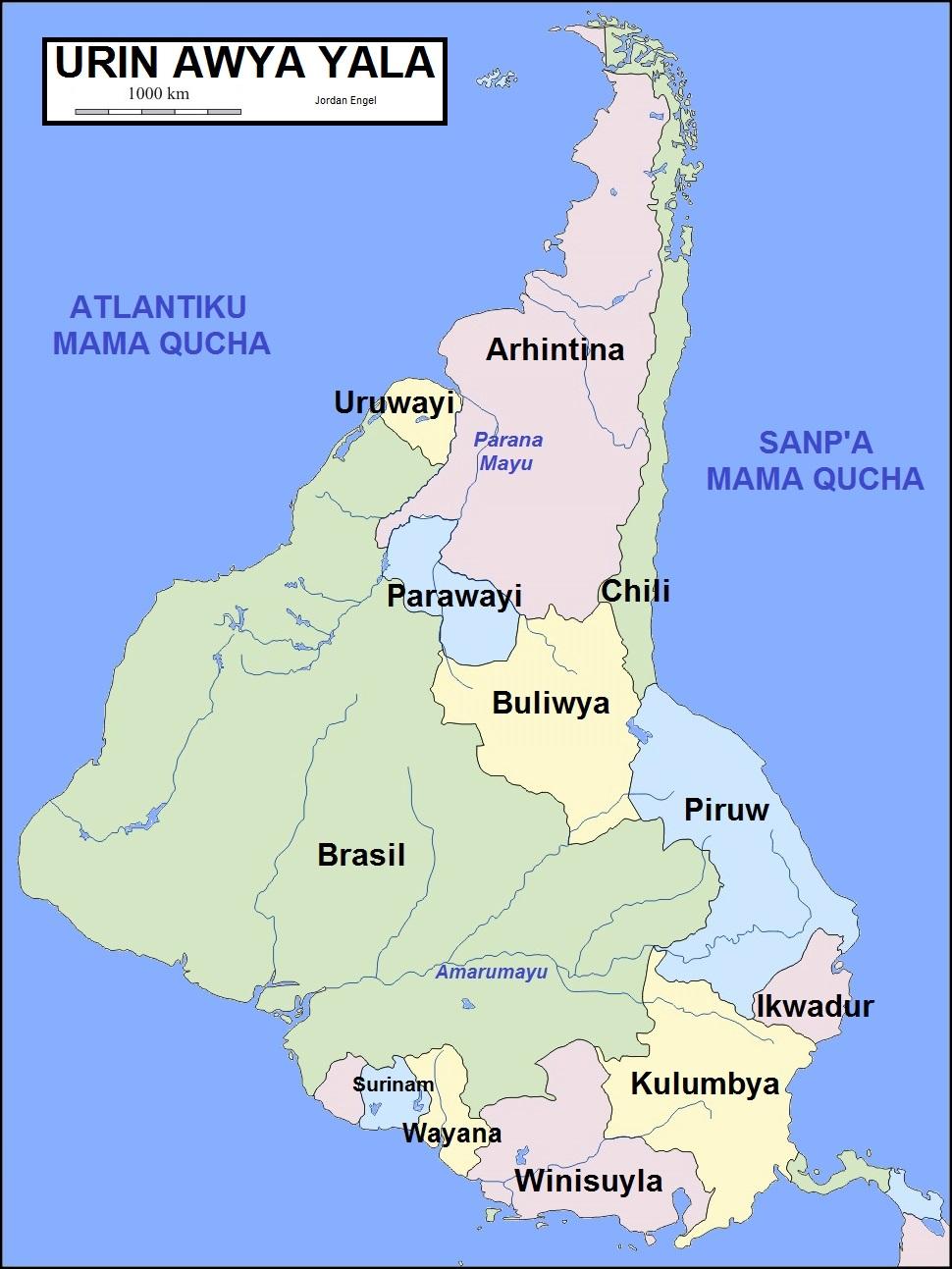 South America In Quechua The Decolonial Atlas