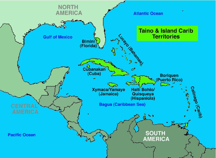 How are the mayans and kalinagos and taino societies different