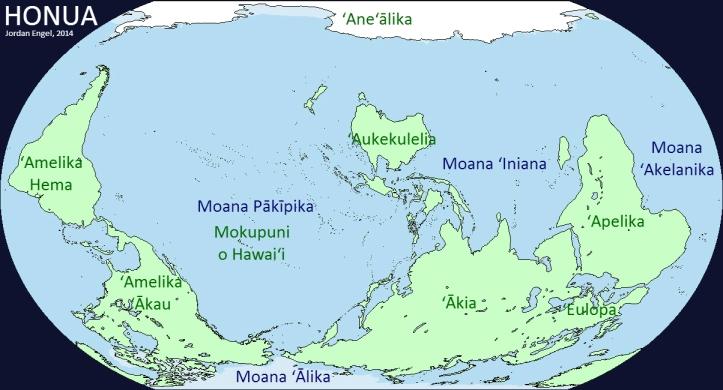 Honua (Earth) in ʻŌlelo Hawaiʻi (Hawaiian), by Jordan Engel