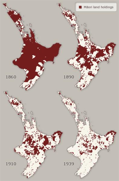 Māori land in Te Ika-a-Māui (the North Island), 1860–1939
