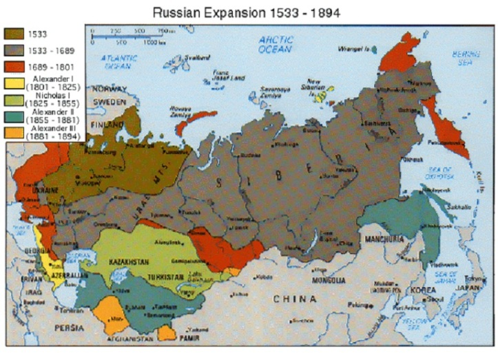 Russian Expansion, 1533-1896
