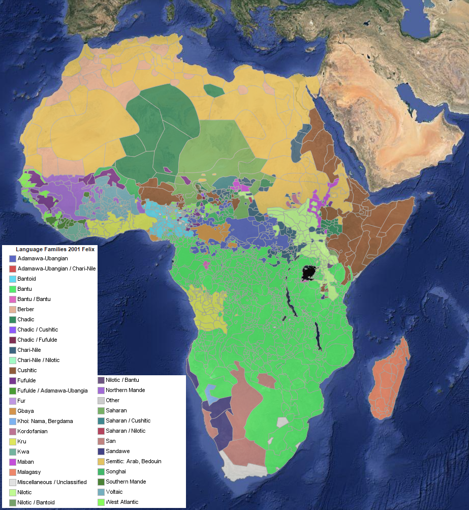 Harvard Africa Map Language Families of Africa – The Decolonial Atlas