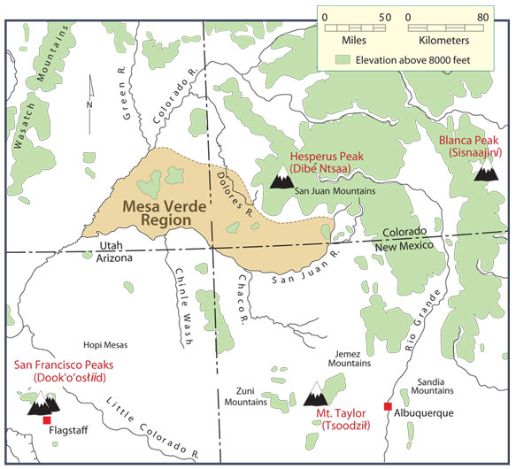 Navajo Reservation Arizona Map.The Four Sacred Mountains Of The Navajo The Decolonial Atlas