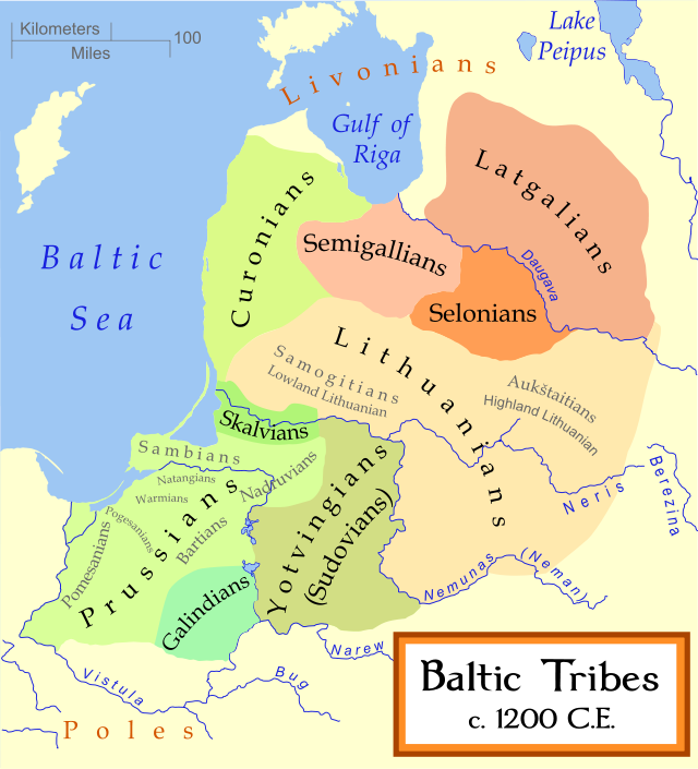 Baltic Europe Map.Baltic Tribes 1200 Ce The Decolonial Atlas