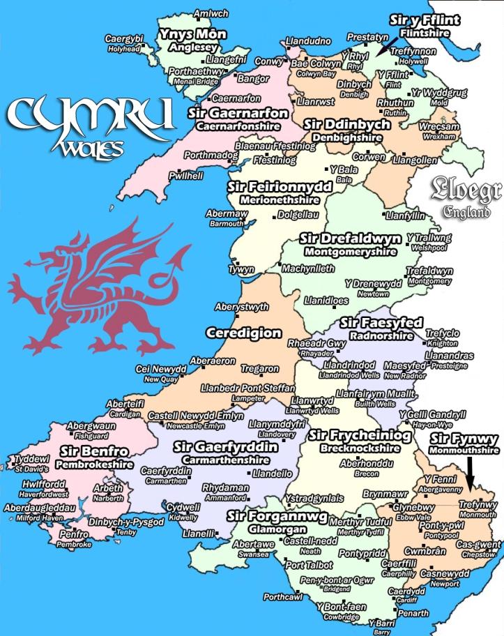 Cymru (Wales) in Cymraeg (Welsh). Source: http://fc00.deviantart.net/fs71/f/2010/357/7/f/map_o_gymru__map_of_wales_by_abacaxin-d35iwc0.jpg