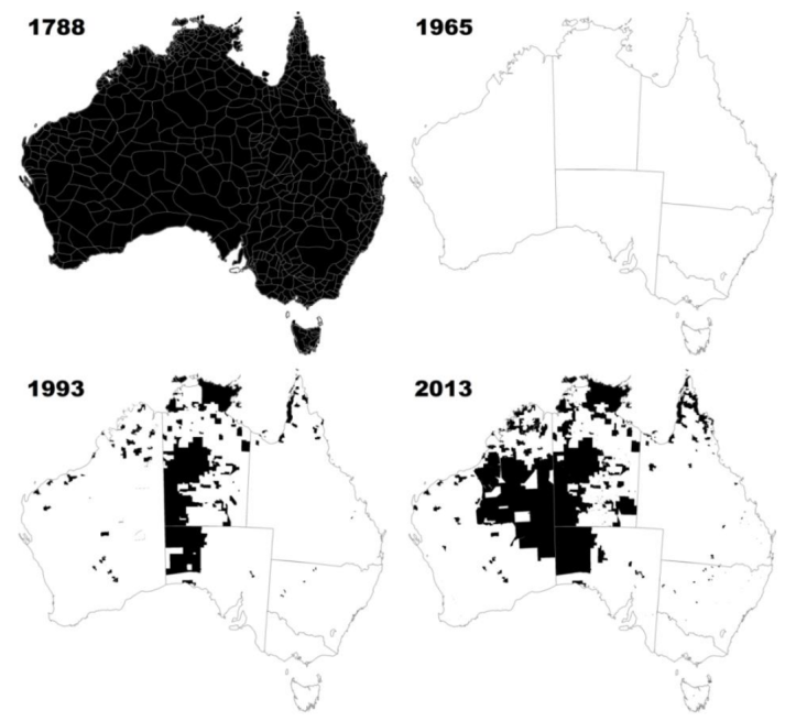 A snapshot of Indigenous held land in Australia 1788–2013