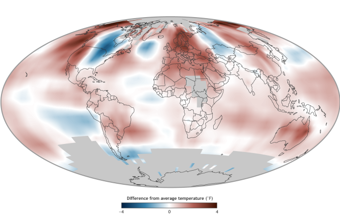 Average temperature in 2014 compared to the 1981-2010 average. Source: https://www.climate.gov/news-features/understanding-climate/2014-state-climate-earth%E2%80%99s-surface-temperature