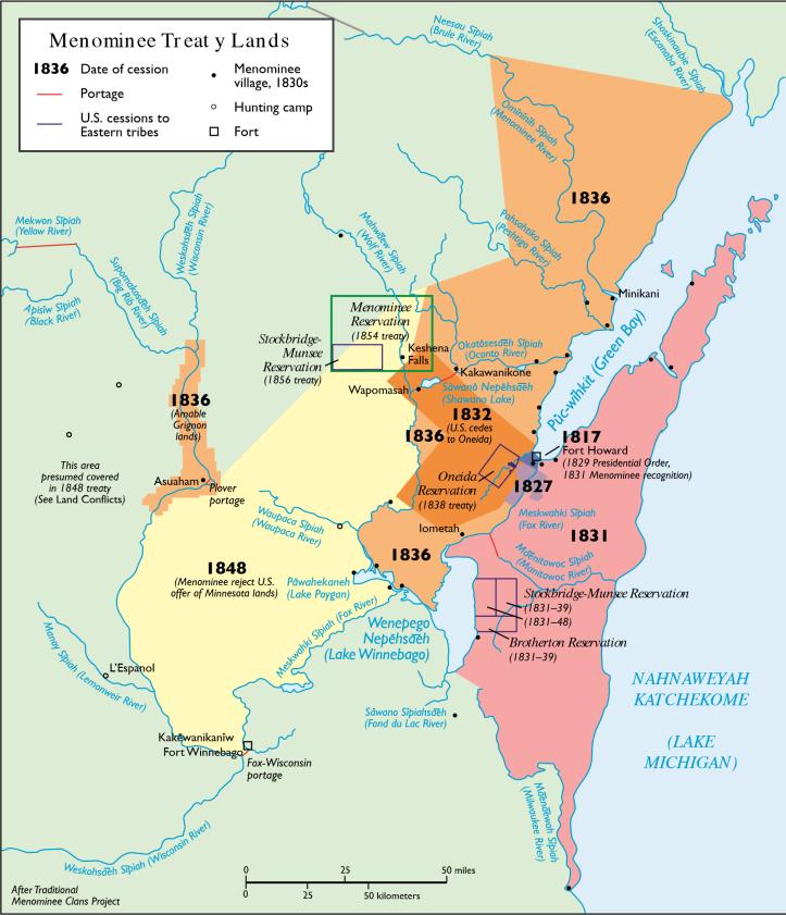 Mamaceqtaw (Menominee) Treay Lands