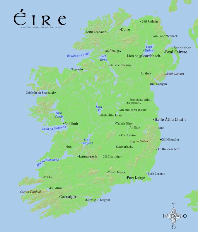 Éire (Ireland) in Gaeilge (Irish) by Jordan Engel
