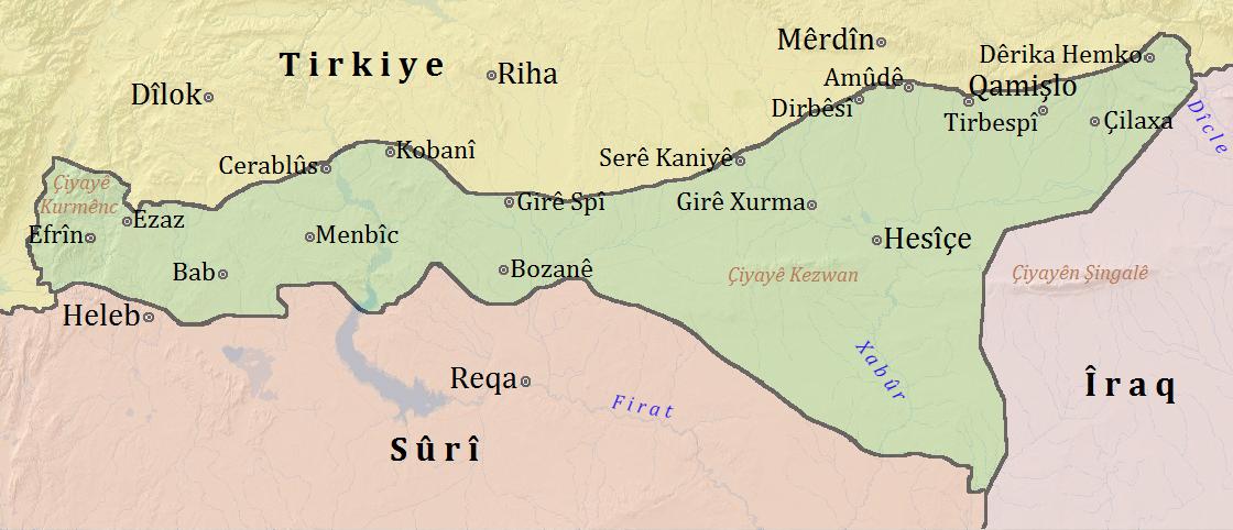 Rojava in Kurdish, Ara...