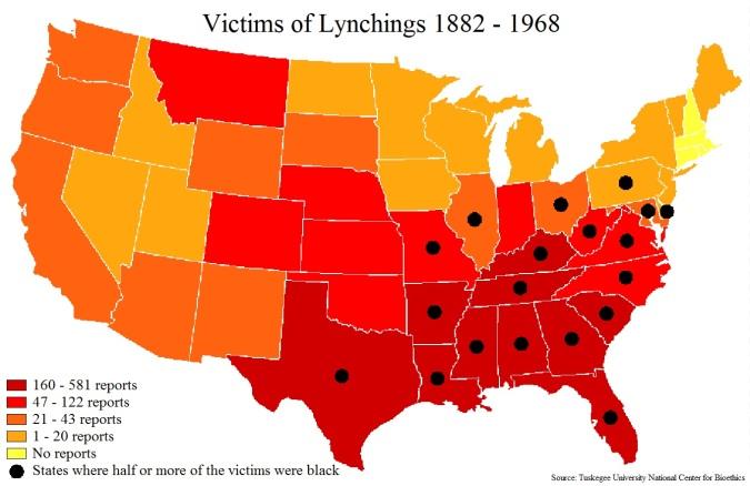 Lynchings 1882 to 1968