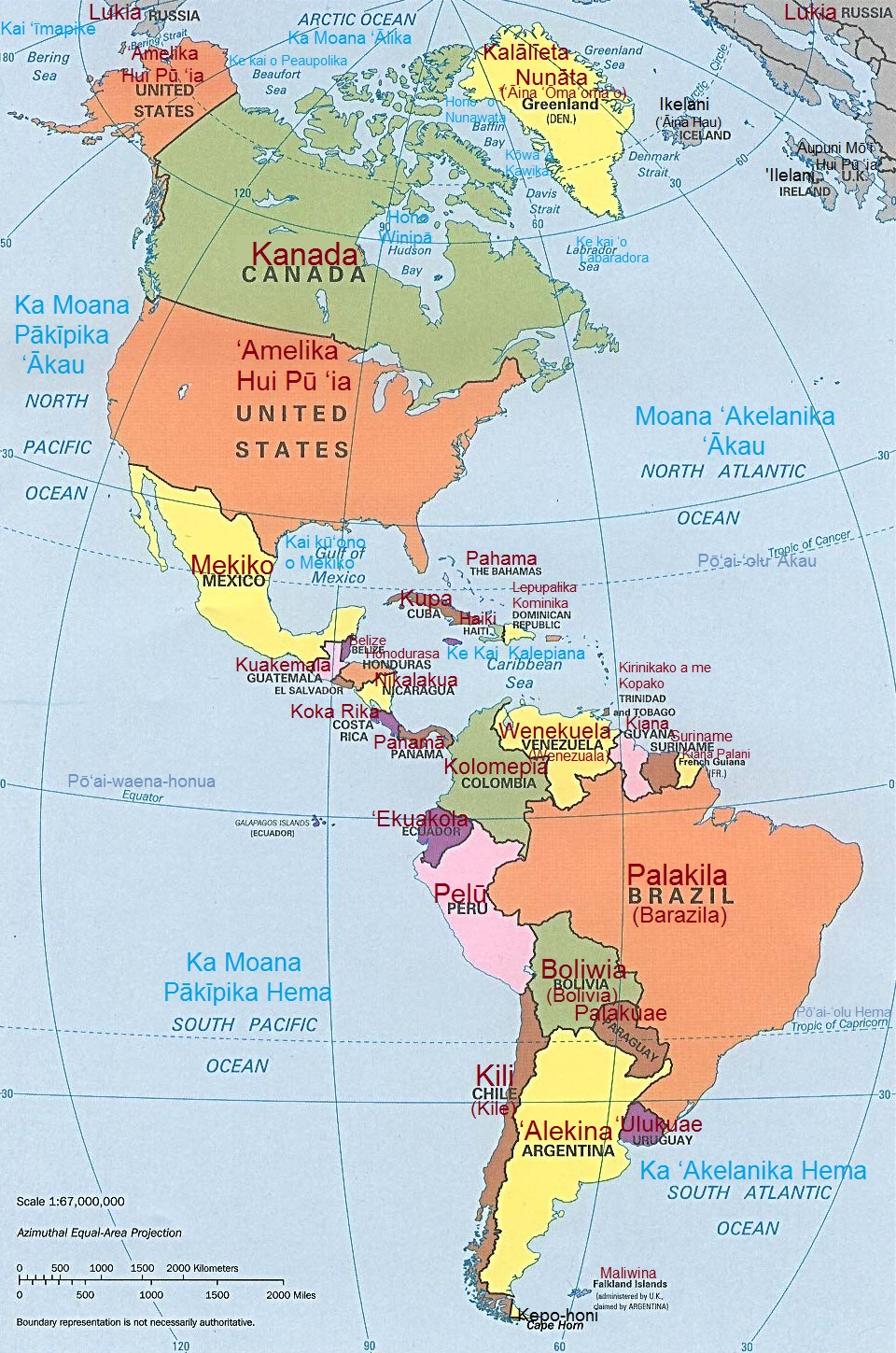 World Maps in Hawaiian – The Decolonial Atlas