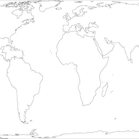 Earth The Decolonial Atlas - Earth blank map