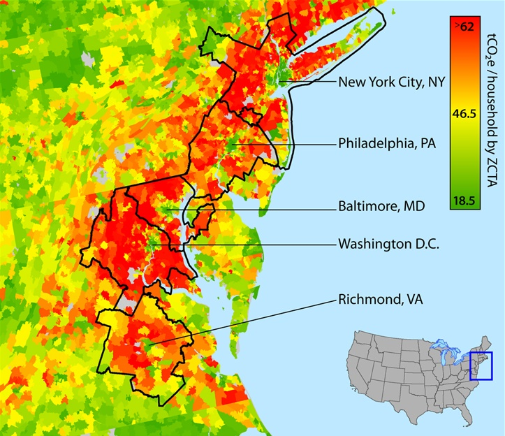 average-annual-household-carbon-footprint-by-zip-code-east-coast