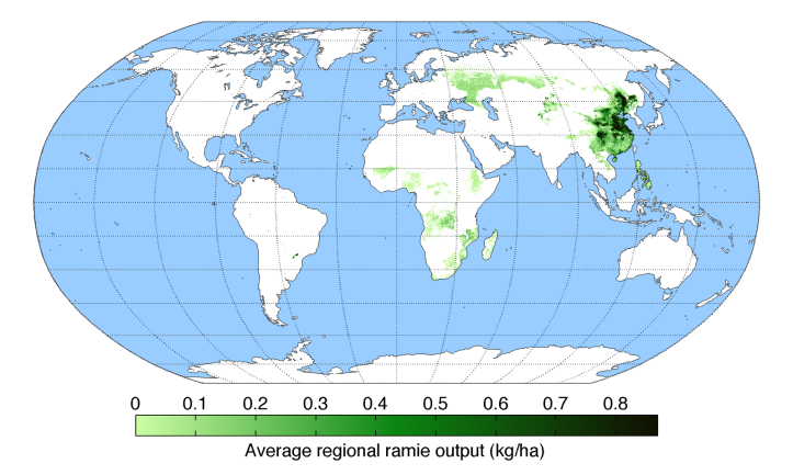 average-regional-output-ramie