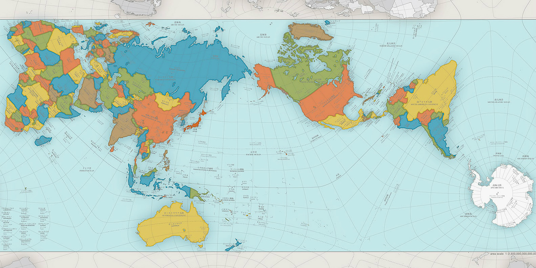 How map projection distorts country sizes around the globe as an aside gumiabroncs Choice Image