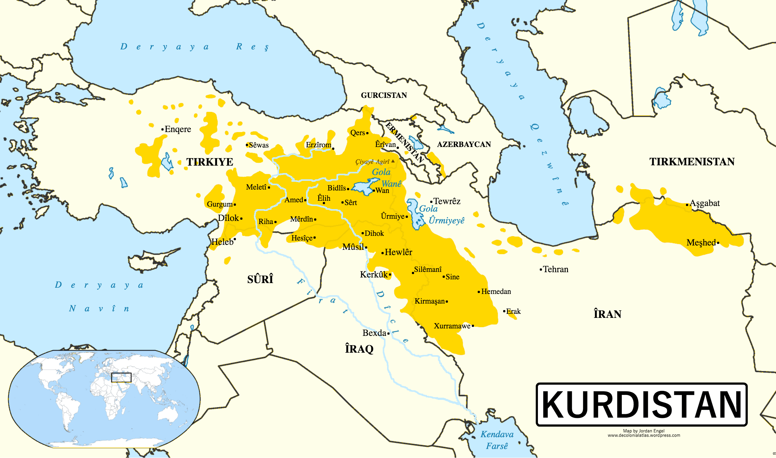 Kurdistan in kurdish the decolonial atlas kurdistan map sciox Image collections