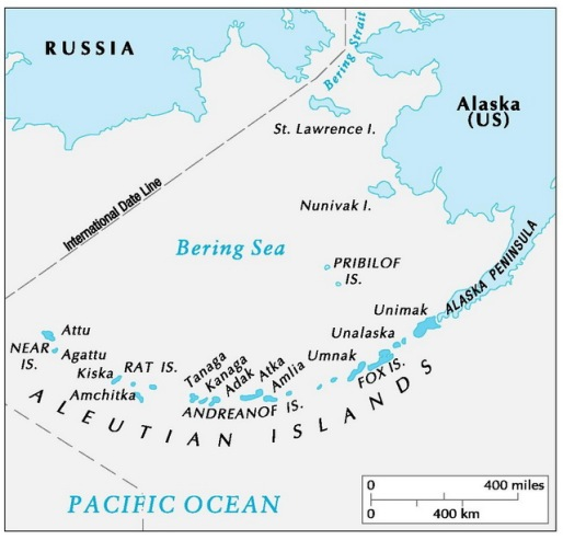 Aleutian Islands Map