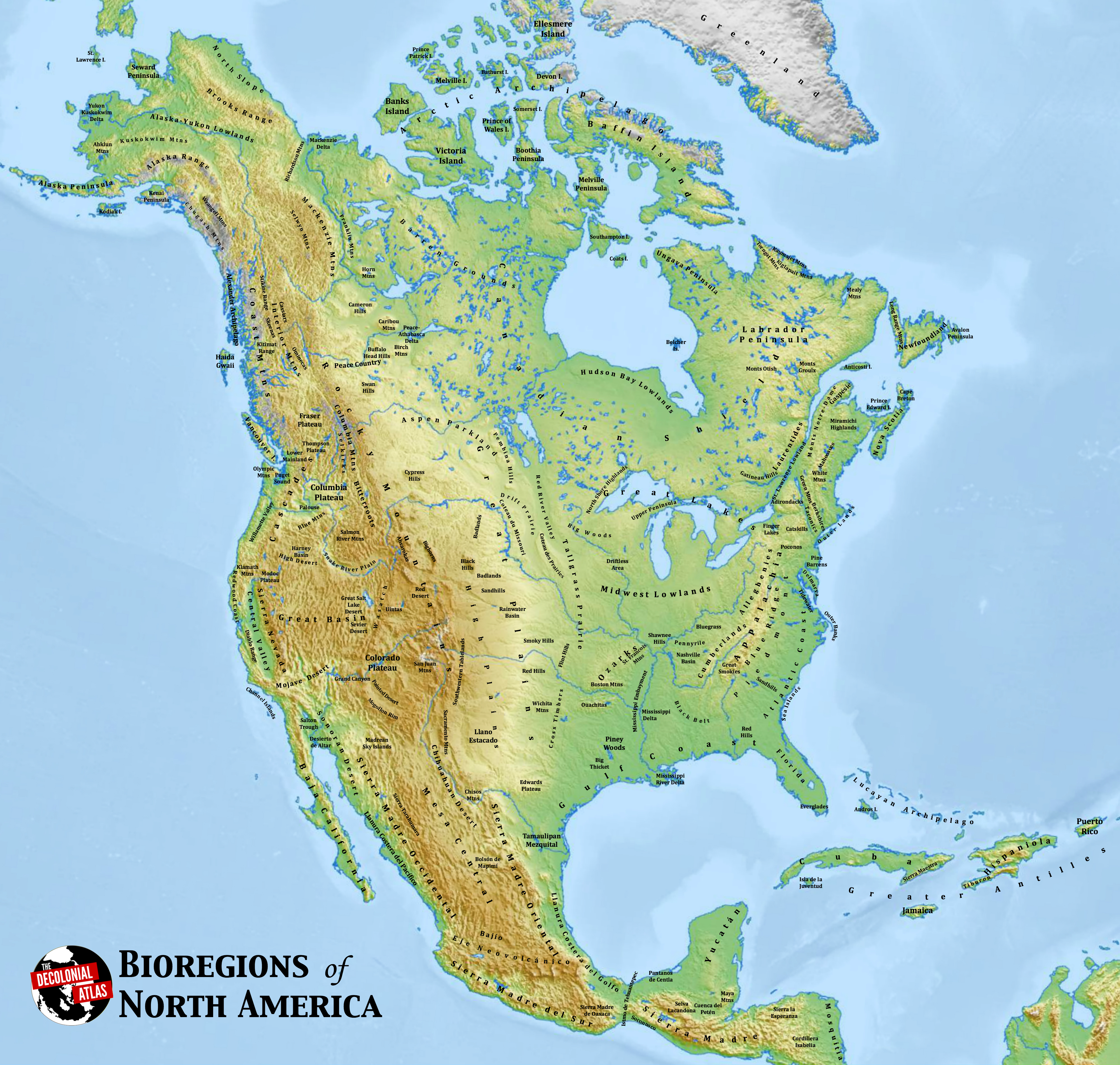Bioregions of North America – The Decolonial Atlas