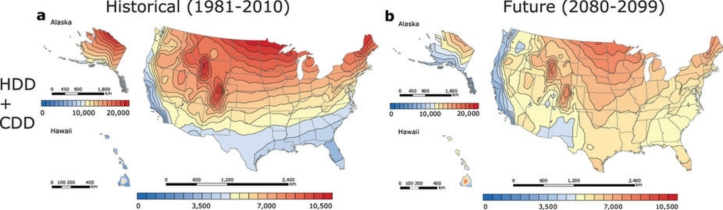 US Degree Days Map