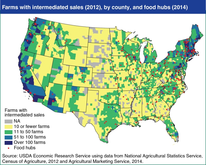 US Food Hubs Map