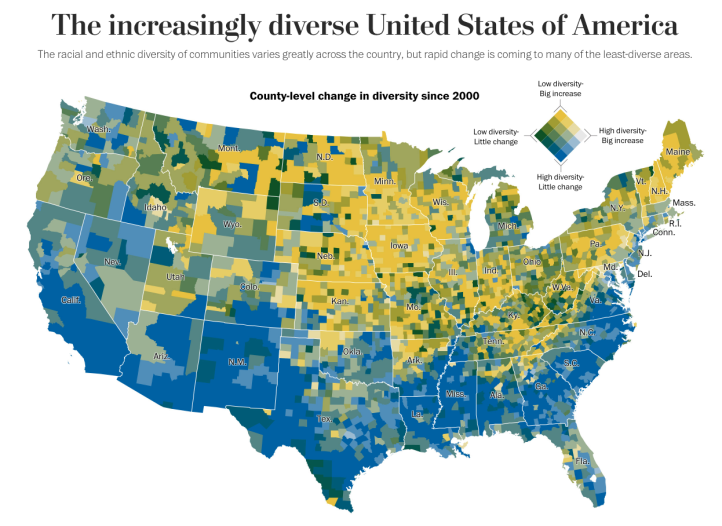 US Racial Ethnic Diversity Map