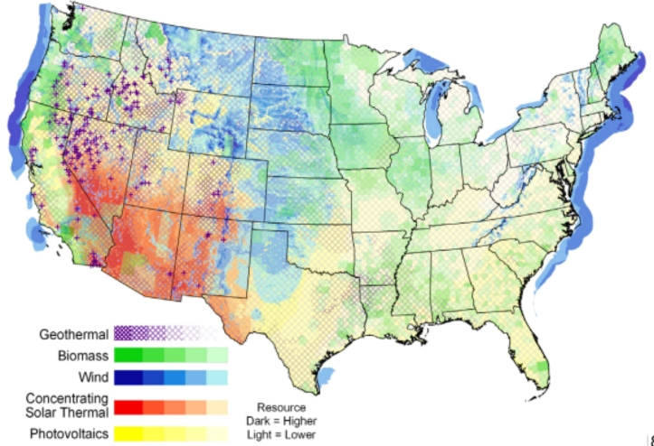 US Renewable Energy Potential Map