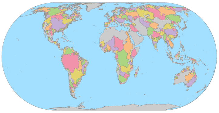 World Watersheds Blank